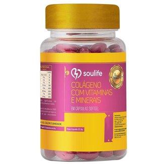 Colágeno + Vitaminas 500mg - 60 Cáps - Soulife