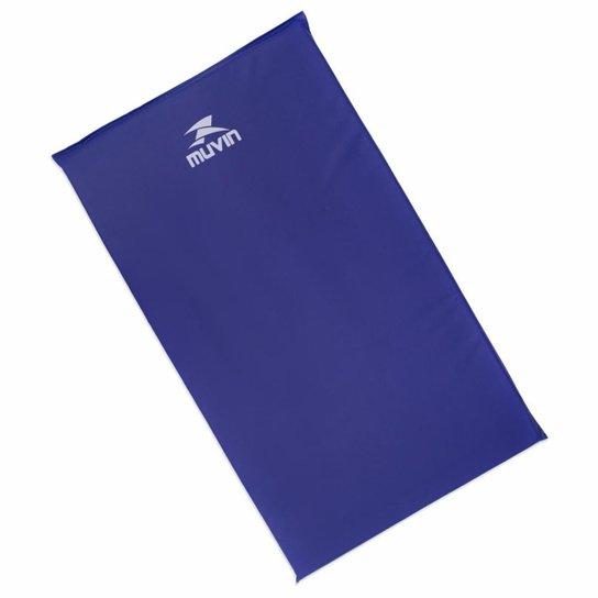 Colchonete de Exercícios em Espuma Densidade 18 Muvin - Tamanho 95cm x 55cm x 3cm - Impermeável - Azul