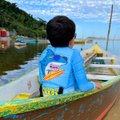 Colete Infantil Piscina Camisa Flutuadora Manga Longa