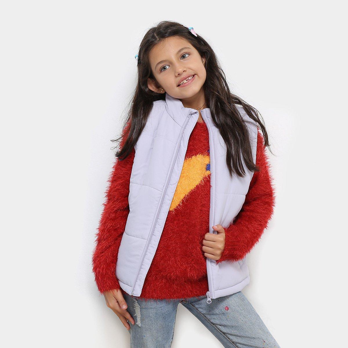 c66312b24ce8a Colete Infantil Zeep! Puffer Feminino - Lilás - Compre Agora