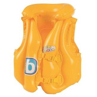 Colete inflável infantil Bestway Swin Safe com encosto de cabeça e fecho duplo indicado para criança