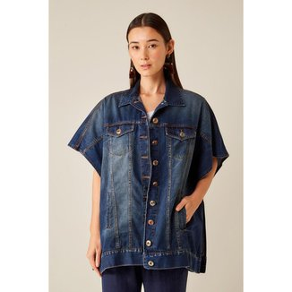 Colete Jeans Dark Blue Sacada