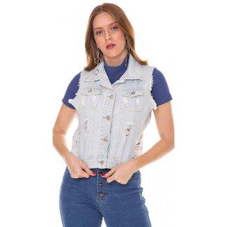 Colete Jeans Express Carol Feminino
