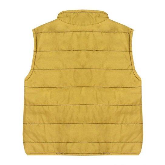 Colete Look Jeans Dupla Face Amarelo - UNICA - 02 - Amarelo