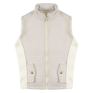 Colete Look Jeans Matelassê Off-White - UNICA - 12