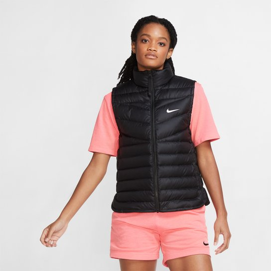 Colete Nike Sportswear Windrunner Feminino - Preto+Branco