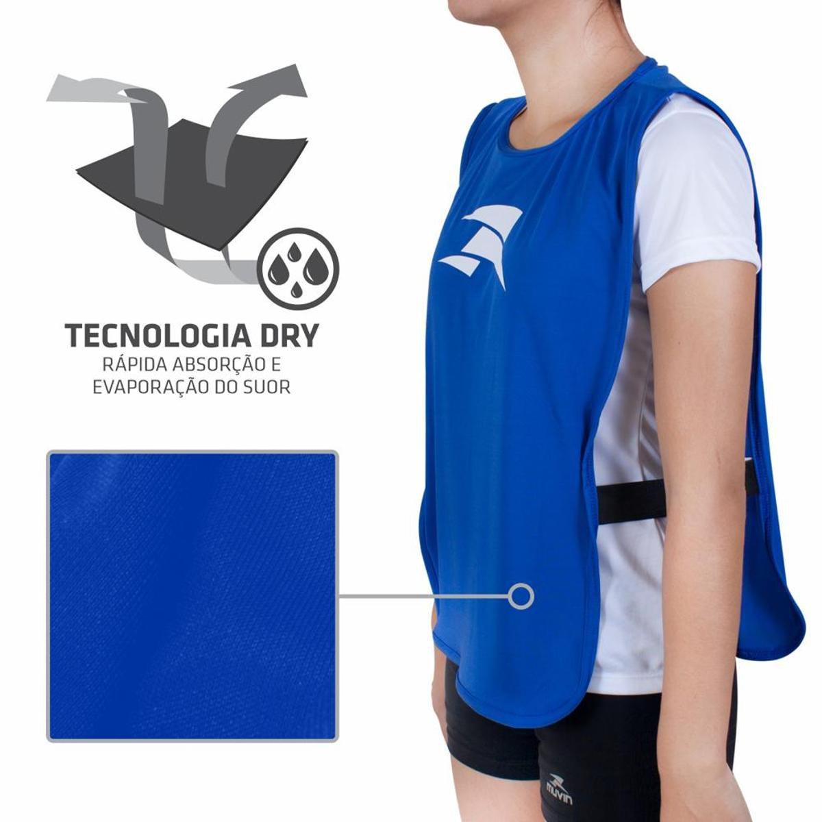 Colete para Treinamento Elite Infantil Muvin COL-100 - Azul - Compre ... 075700643b404