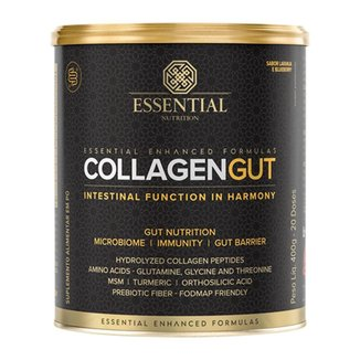 COLLAGEN GUT 400G - ESSENTIAL NUTRITION (LARANJA E BLUEBERRY)