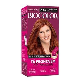 Coloração Biocolor Mini Kit - Tons Vermelhos 7.44 Cobre Intenso