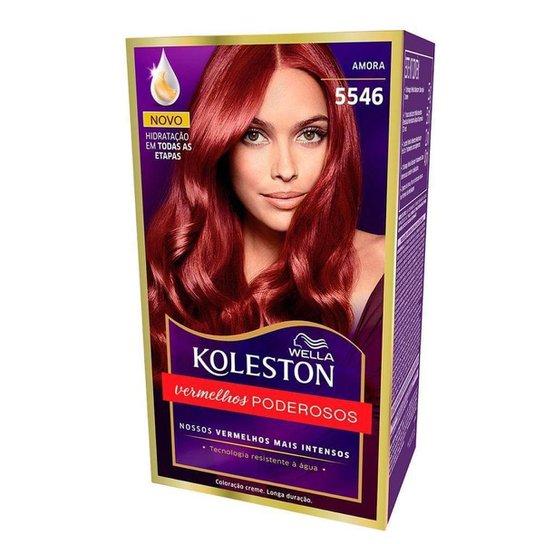 Coloração Creme Wella – Koleston Tons Vermelhos Amora - Incolor