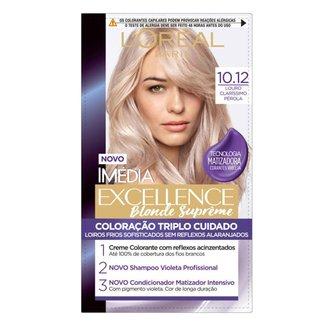 Coloração Imédia Excellence Blondes Supremes 10.12 Louro Claríssimo Pérola