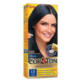 Coloração Niely Cor&Ton - Tons Escuros 1.0 Preto Azulado