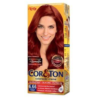 Coloração Niely Cor&Ton - Tons Vermelhos 6.66 Louro Escuro Vermelho