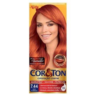 Coloração Niely Cor&Ton - Tons Vermelhos 7.44 Ruivo Acobreado