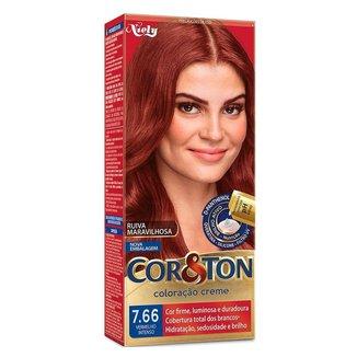 Coloração Niely Cor&Ton - Tons Vermelhos 7.66 Vermelho Intenso