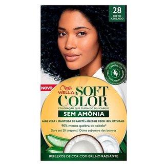Coloração Wella Soft Color - Tons Escuros Preto Azulado 28