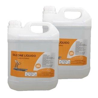 Combo 10Lts Silicone Liquido Lubrificante Para Esteiras