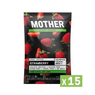 Combo 15 Sport Protein Morango Sachê Mother Nutrients