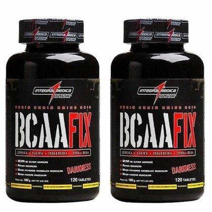 Combo 2 - Bcaa Fix Darkness - 120 Tabletes - Integralmédica