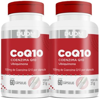 COMBO 2 COENZIMA COQ10 UBIQUINONA 100MG 60 CAPS CADA - DUOM