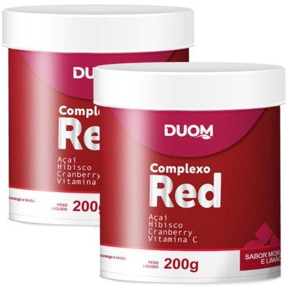 COMBO 2 COMPLEXO RED SABOR MORANGO E LIMÃO 200G CADA - DUOM