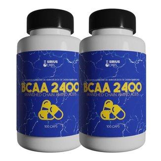 Combo 2x Bcaa 2400 100 Cápsulas - Sirius labs