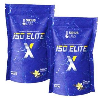 Combo 2x Whey Iso Elite X 900g - Sirius Labs