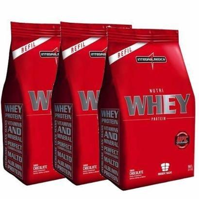 Combo 3 – Nutri Whey Protein – 1800g Refil – Integralmédica