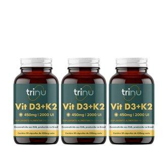 Combo 3 Vit D3+K2 - 90 Cápsulas