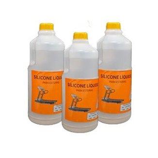 Combo 3Lts Silicone Liquido Lubrificante Para Esteiras