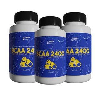 Combo 3x Bcaa 2400 100 Cápsulas - Sirius labs