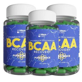 Combo 3x Bcaa Recovery 60 Cápsulas - Sirius Labs