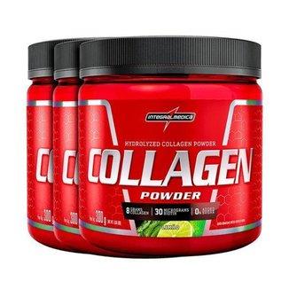 Combo 3x Collagen Powder Neutro,Tangerina e Limao - Integralmedica