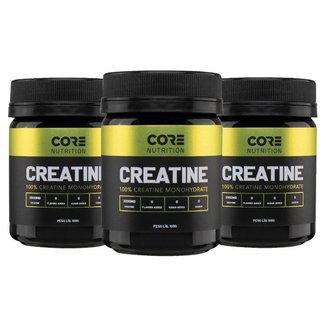 Combo 3x Creatina 100 Pure Core Nutrition 100g