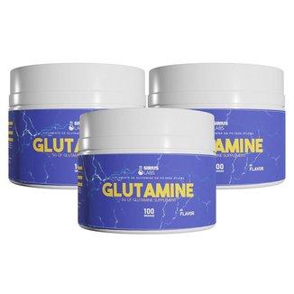 Combo 3x Glutamina 100g - Sirius Labs