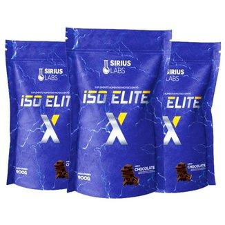 Combo 3x Whey Iso Elite X 900g - Sirius Labs