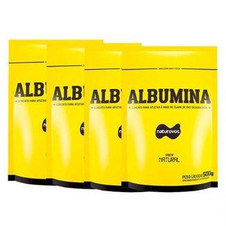 Combo - 4 Albuminas Refil - 500g Natural - Naturovos