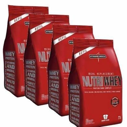 Combo 4 - Nutri Whey Protein - Refil 907g - Integralmédica - Unissex
