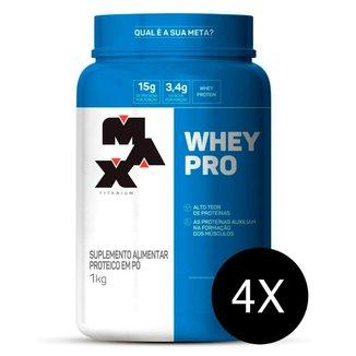 Combo 4 x  Whey Pro 1kg - Max Titanium