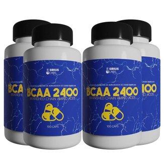 Combo 4x Bcaa 2400 100 Cápsulas - Sirius labs