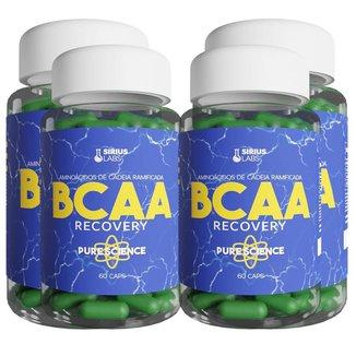 Combo 4x Bcaa Recovery 60 Cápsulas - Sirius Labs