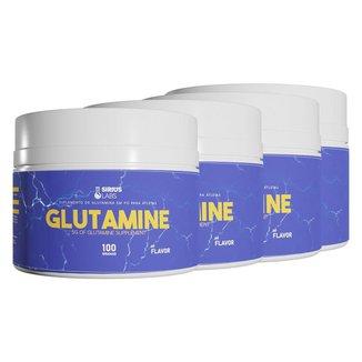 Combo 4x Glutamina 100g - Sirius Labs