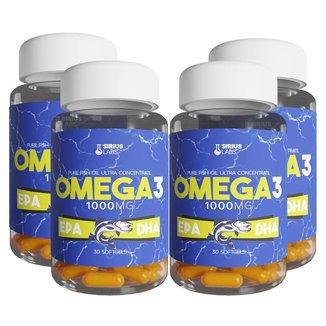 Combo 4x Ômega 3 EPA DHA 30 Cápsulas Softgel - Sirius Labs