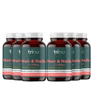 Combo 6 Hair & Nails - 180 Cápsulas