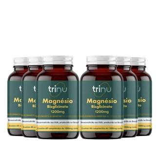 Combo 6 Magnésio Bisglicinato - 180 Comprimido