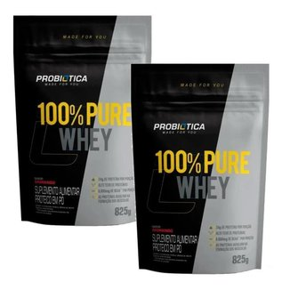 COMBO CASAL FITNESS 2X WHEY PROTEIN REFIL PROBIOTICA 825G