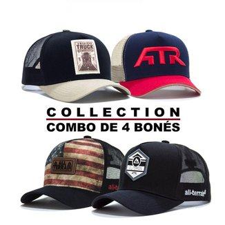 Combo Collection 4 Bonés - CNB23