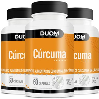 COMBO COM 3 CURCUMA CURCUMINA 60 CÁPS CADA 180 TOTAL - DUOM