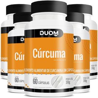COMBO COM 5 CURCUMA CURCUMINA 60 CÁPS CADA 300 TOTAL - DUOM