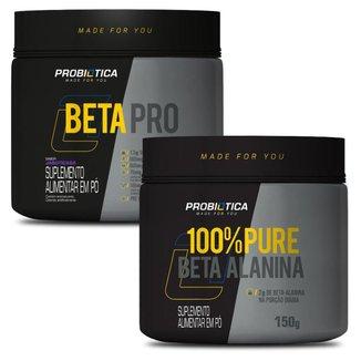Combo Mais Energia Treino: Beta Pro 200g + 100% Beta Alanina 150g - Probiótica